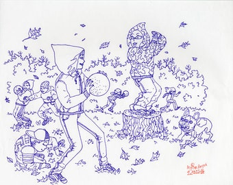 UNBORED Games Original Think Like a Gamer Line Art Kids Book Illustration by Mister Reusch