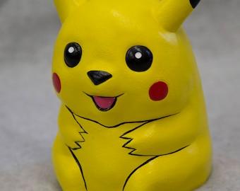 Hand-Painted Ceramic Pikachu