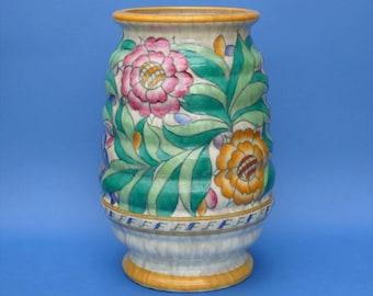 Charlotte Rhead - Persian Rose 30cm Vase - Pattern No 4040 - Art Deco Design Signed
