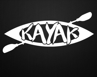 Kayak decal, paddle, canoe, sticker, fishing, watersport......Cool!!