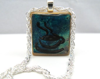 """Silver-plated 18"""" rope chain for Scrabble tile pendants"""