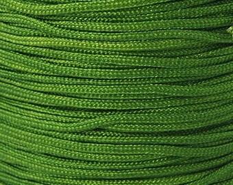 2mm Green Nylon Macrame Shamballa Braiding Bracelet Cord - 5 yards -N096