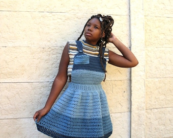 The Blue Jay Crochet Dress Pattern. Instant Download!