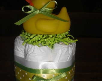 Duck Diaper Cake Baby Shower Centerpiece other colors and sizes too