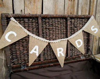 Cards Banner Cards Bunting Cards Wedding Banner Wedding Cards Sign Cards Burlap Banner Party Cards Banner Party Cards Garland