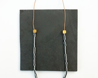 Leather Beaded Necklace