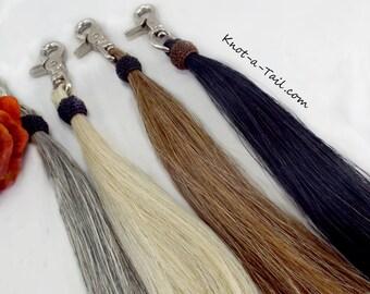 Large horsehair tassel, Swivel snap,  13 inches long,horsehair tassel, shoo fly, Snap-on purse/bags, horsehair tassel, hand-made, X-long