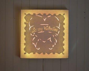 Led canvas art 'Be my Valentine'