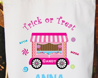 Trick or Treat Bag Halloween Tote Bag Candy Halloween Trick or Treat Bag