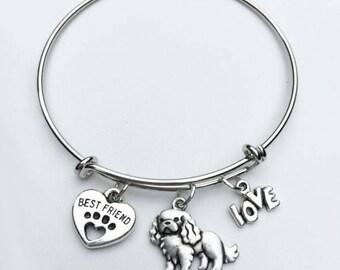 Cavalier King Charles Spaniel Best Friend Charm Bracelet