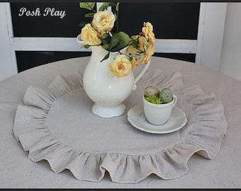 children's  ruffled tablecloth topper