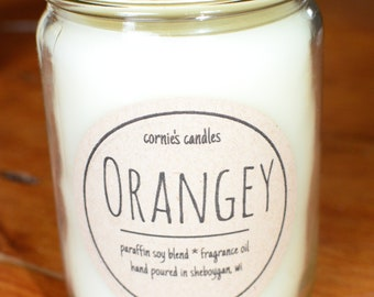Orange candle / Soy candle / Citrus Candle / Parasoy