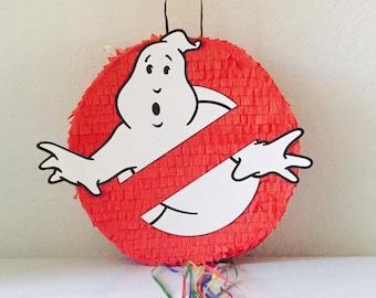 GHOST BUSTERS PINATA, Ghost boosters Party,  Pull String Piñata, caza fantasmas cumpleaños , ghostbusters Pinata