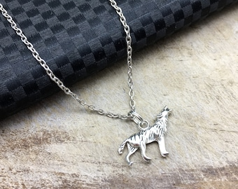 WOLF Necklace Wolf Jewelry Wolf Gift Wolf Pendant Wolf Charm Animal Earrings Animal Jewelry Animal Gift Wolf With Moon Great Gift for Her