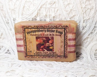 Goat Milk Soap, Apple Jack and Peel, cold processed soap, spicey scent, teacher gift, mother's day, handmade soap, Moeggenborg Sugar Bush