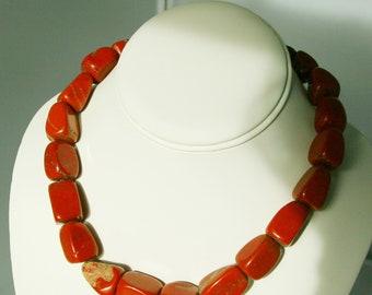 Rustic Red Jasper Necklace