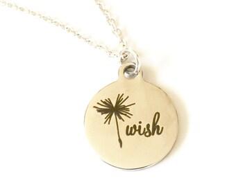 Wish Necklace, Dandelion Necklace, Dandelion Wish Necklace, Dandelion Jewelry, Birthday Jewelry, Wish Jewelry Birthday Gifts Her Make A Wish