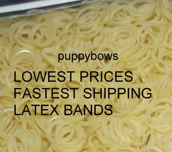 Puppy Bows ~ Latex Dog Grooming Bands 5000 PACK ~elastic dog bows bow TOPKNOT band ~USA seller