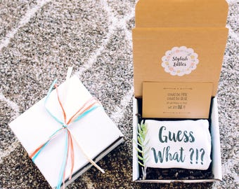 Pregnancy Announcement - Guess What - Pregnancy Announcement Ideas - Baby Reveal to Family - Pregnancy Announcement Box