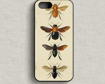 Vintage Bees Phone Case iPhone 5 5C 6 6+ 7 7+