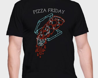Pizza Friday - Friday 13th Shirt - Friday 13th T-Shirt - Friday 13th Tee - Jason Shirt - Jason Tee - Jason T-Shirt - Jason Voorhees Shirt