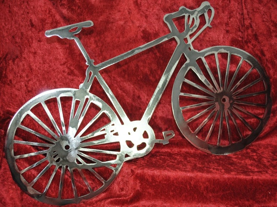 Bicycle, Bicycle Enthusiast Gift, Bicycle Metal Wall Art, Indoor or Outdoor Wall Art, Metal Decor, Gift for Her, Gift for Him, Bicycle Art