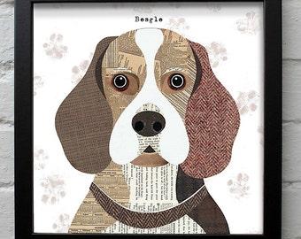 Beagle dog print