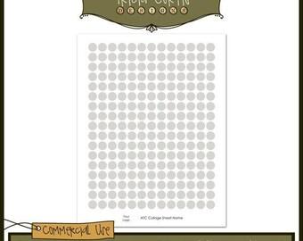 Typewriter Keys ATC Digital Collage Sheet