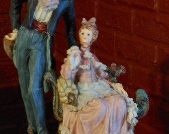 Meerchi French Colonial Couple Figurine