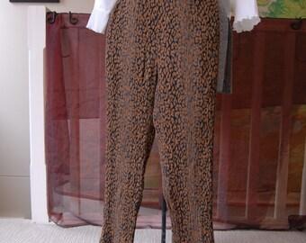 Faux Leapard print slacks