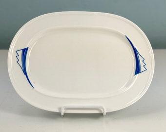 Homer Laughlin China Milford Serving Platter, Atomic Era Decor, 1960s Dining, Lead Free Vintage Dinnerware