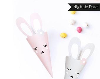 Easter / Easter Bag / Easter Printable / Bunny Printable / PDF / digital file / Easter Present / DIY Bag / Instant DOWNLOAD / Packaging