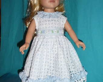 cutespring  summer frock for 18 in doll.