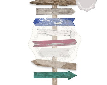 Arrows Clip Art WOOD ARROWS- Distressed Wood Real Clipart Arrows, Digital Arrow Sign, Rustic Arrows, Wedding Arrow Sign, Digital Wood Sign
