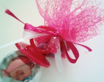 photo pink pacifier with lozenge
