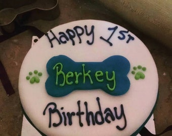 Banana Birthday Cake For Dogs ~ Vegan and vegetarian dog treats made fresh for by meatloafskitchen
