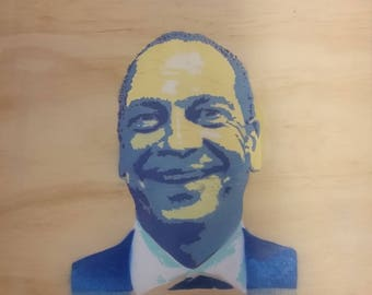 Customised Stencil Portraits (Spray Painted)