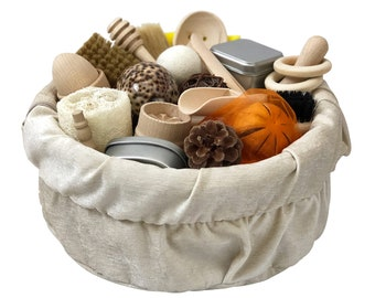 Montessori Sensory Treasure Basket