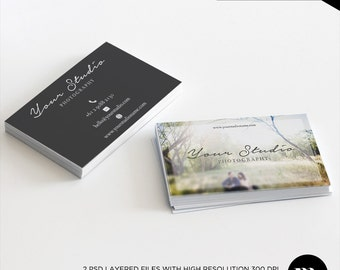 Business Card Design - Photoshop Template for Photographers or Other Business - INSTANT DOWNLOAD - BC003