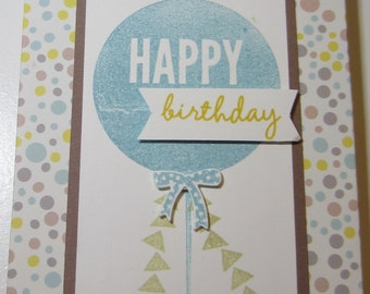 Big Balloon Birthday Calendar