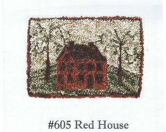 Red House by Prairie Grove Peddler - Punchneedle / Needlepunch Embroidery Pattern