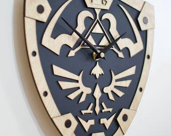 The Legend of Zelda inspired wall clock * Hylian shield * Ocarina of time