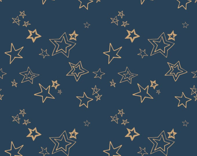 Wild & Free - Midnight Roof Metallic by Maureen Cracknell  for Art Gallery Fabrics - Voile Fabric