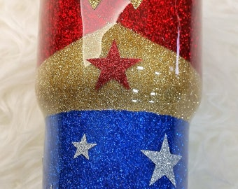 Hand Glittered Stainless Steel Tumbler