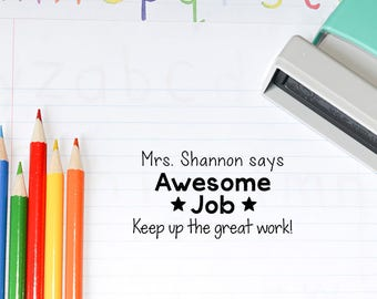 Teacher Stamp - Teacher Appreciation Gift - Teacher Gift - Teacher Grading Stamp T1