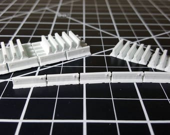 N Scale Jersey Barrier 45 Count