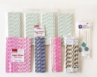 LAST CHANCE! Set of Paper Straws and Cookie Sticks