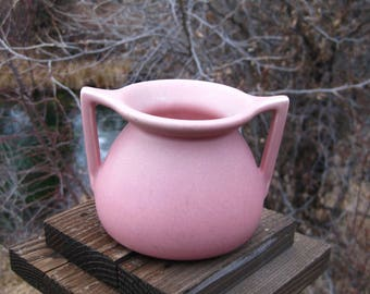 Rookwood Pottery Vase, Arts & Crafts, Mission Style, Vintage 1928, Antique Art Pottery, Dusty Rose Matte Glaze, Cottage Chic