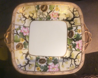 Antique Handpainted Japanese Platter, Noritake