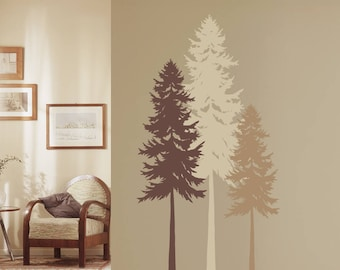 Fir Tree Wall Decal - Tree Wall Art - Nature Decor - Listing is for ONE TREE